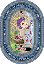 "Humpty Dumpty Rug - Oval - 5'4"" x 7'8"" - JC1476CC - Joy Carpets"