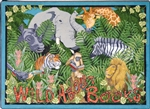 Wild About Books Rug - Square - 7'7