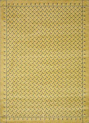 "Diamond Plate Rug - Gold - Rectangle - 3'10"" x 5'4"" - JC1504B01 - Joy Carpets"