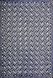 "Diamond Plate Rug - Lead - Rectangle - 7'8"" x 10'9"" - JC1504D03 - Joy Carpets"