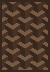 "Rooftop Rug - Chocolate - Rectangle - 5'4"" x 7'8"" - JC1505C03 - Joy Carpets"