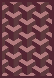 "Rooftop Rug - Plum - Rectangle - 5'4"" x 7'8"" - JC1505C05 - Joy Carpets"