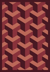 "Rooftop Rug - Burgundy - Rectangle - 7'8"" x 10'9"" - JC1505D06 - Joy Carpets"