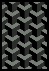 "Rooftop Rug - Black - Rectangle - 7'8"" x 10'9"" - JC1505D08 - Joy Carpets"