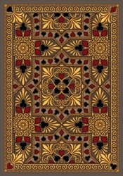 "Jackpot Rug - Beige - Rectangle - 5'4"" x 7'8"" - JC1507C01 - Joy Carpets"