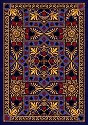 "Jackpot Rug - Navy - Rectangle - 5'4"" x 7'8"" - JC1507C02 - Joy Carpets"