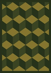 "Highrise Rug - Olive - Rectangle - 5'4"" x 7'8"" - JC1508C01 - Joy Carpets"
