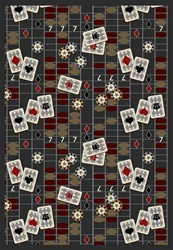 "Feeling Lucky Rug - Charcoal - Rectangle - 5'4"" x 7'8"" - JC1509C03 - Joy Carpets"