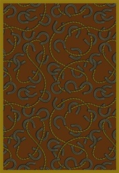 "Rodeo Rug - Rust - Rectangle - 7'8"" x 10'9"" - JC1512D01 - Joy Carpets"