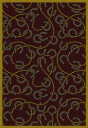 "Rodeo Rug - Burgundy - Rectangle - 7'8"" x 10'9"" - JC1512D03 - Joy Carpets"