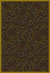 "Rodeo Rug - Chocolate - Rectangle - 7'8"" x 10'9"" - JC1512D04 - Joy Carpets"
