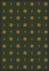 "Mariners Tale Rug - Emerald - Rectangle - 3'10"" x 5'4"" - JC1515B03 - Joy Carpets"
