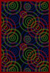 "Dottie Rug - Rainbow - Rectangle - 7'8"" x 10'9"" - JC1517D06 - Joy Carpets"