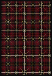 "Saint Andrews Rug - Lumberjack Red - Rectangle - 5'4"" x 7'8"" - JC1524C01 - Joy Carpets"