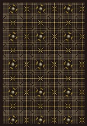 "Saint Andrews Rug - Dark Brown - Rectangle - 5'4"" x 7'8"" - JC1524C04 - Joy Carpets"