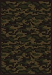 "Funky Camo Wall-to-Wall Carpet - Dark Army - 13'6"" - JC1526W04 - Joy Carpets"