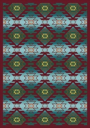 "Canyon Ridge Rug - Desert Turquoise - Rectangle - 5'4"" x 7'8"" - JC1577C01 - Joy Carpets"