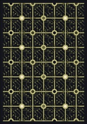 "Electrode Rug - Black - Rectangle - 5'4"" x 7'8"" - JC1582C03 - Joy Carpets"