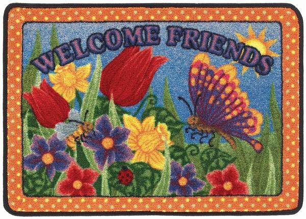 Welcome Friends Rug Seasonal 4 Mat Set Rectangle 23 Quot X 33 Quot Jc1600vip Joy Carpets