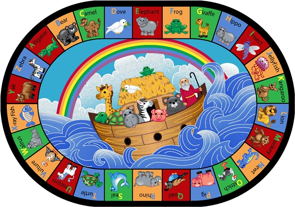 Noah S Alphabet Animals Children S Rug Jc1610xx Joy