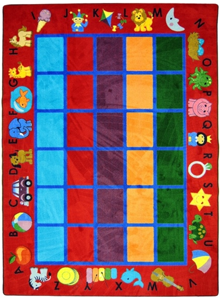 Alphabet Phonics Rug Red Rectangle 10 9 Quot X 13 2