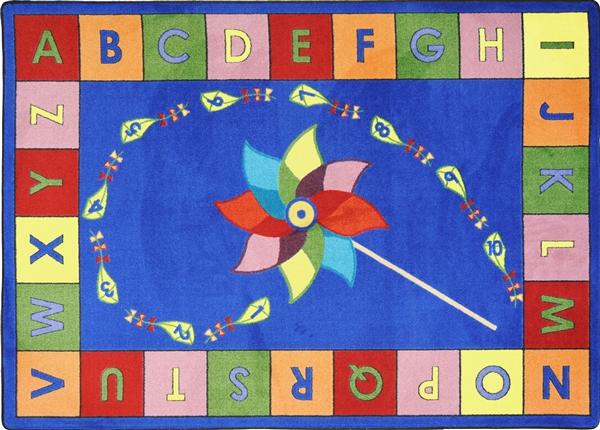 Alphabet Pinwheel Rug Jc1625xx Joy Carpets