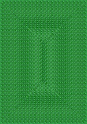 "Legacy Faux Braided Rug - Green - Rectangle - 3'10"" x 5'4"" - JC1631B03 - Joy Carpets"