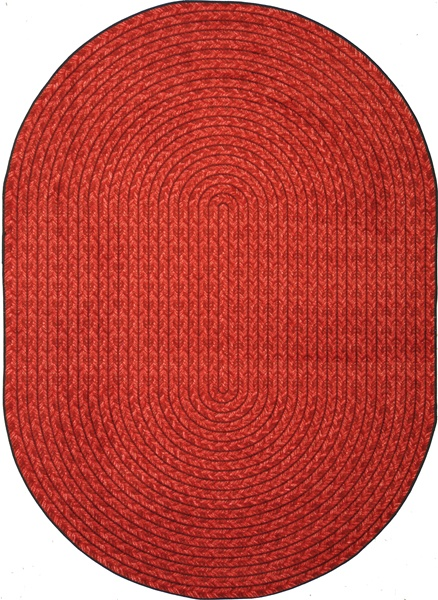 Legacy Faux Braided Rug Red Oval 5 4 Quot X 7 8 Quot Jc1631cc02