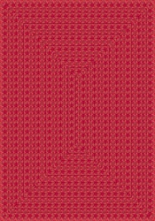 "Legacy Faux Braided Rug - Red - Rectangle - 7'8"" x 10'9"" - JC1631D02 - Joy Carpets"