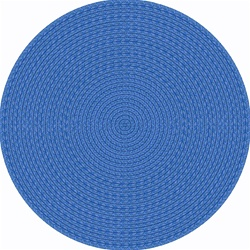 "Legacy Faux Braided Rug - Blue - Round - 7'7"" - JC1631E01 - Joy Carpets"