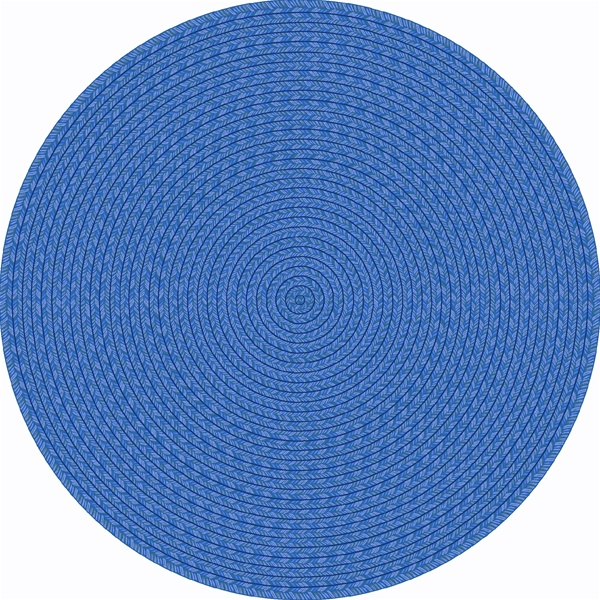 Legacy Faux Braided Rug Blue Round 5 4 Quot Jc1631h01 Joy