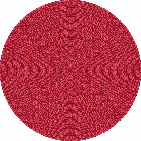 Legacy Faux Braided Rug Red Round 5 4 Quot Jc1631h02 Joy