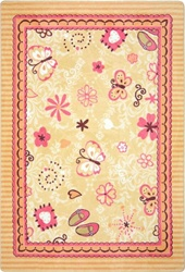 "Hearts & Flowers Rug - Rectangle - 5'4"" x 7'8"" - JC1653C - Joy Carpets"