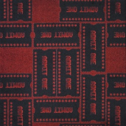 "Admit One Rug - Burgundy - Rectangle - 3'10"" x 5'4"" - JC1666B03 - Joy Carpets"