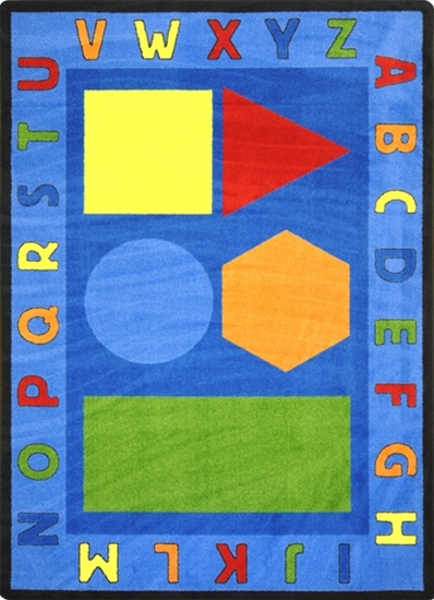 Alphabet Shapes Rug Rectangle 10 9 Quot X 13 2 Quot Jc1670g