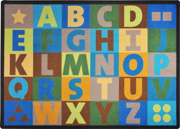 Oversize Alphabet Rug Earthtone Jc1742etxx Joy Carpets