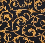 "Acanthus Wall-to-Wall Carpet - Black - 13'6"" - JC1744W01 - Joy Carpets"