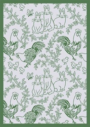 "Feathers & Fur Wall-to-Wall Carpet - Green - 13'6"" - JC428W02 - Joy Carpets"
