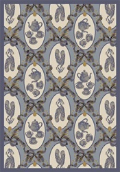 "Ribbons and Bows Wall-to-Wall Carpet - Blue - 13'6"" - JC433W01 - Joy Carpets"
