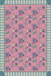 "Flights of Fantasy Rug - Rose - Rectangle - 5'4"" x 7'8"" - JC435C02 - Joy Carpets"