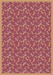 "Dragonflies Rug - Rose - Rectangle - 3'10"" x 5'4"" - JC437B02 - Joy Carpets"