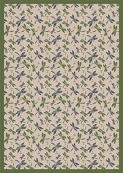 "Dragonflies Rug - Beige - Rectangle - 3'10"" x 5'4"" - JC437B04 - Joy Carpets"