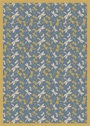 "Dragonflies Rug - Blue - Rectangle - 7'8"" x 10'9"" - JC437D01 - Joy Carpets"