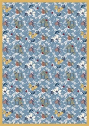 "Flower Garden Wall-to-Wall Carpet - Blue - 13'6"" - JC438W01 - Joy Carpets"