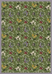 "Flower Garden Wall-to-Wall Carpet - Green - 13'6"" - JC438W03 - Joy Carpets"