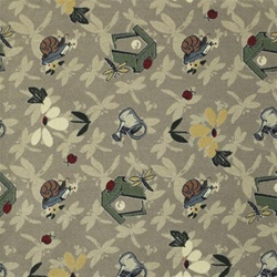 Flower Garden Wall-to-Wall Carpet - 13'6