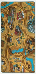 "Wild West Play Rug - Rectangle - 36"" x 80"" - LC102 - Learning Carpets"