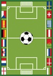 Soccer Game Play Rug - Rectangle - 36