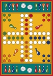 Parcheesi Play Rug - Rectangle - 36