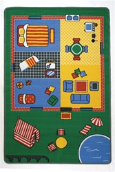 "Let's Play House Play Rug - Rectangle - 36"" x 80"" - LC164 - Learning Carpets"